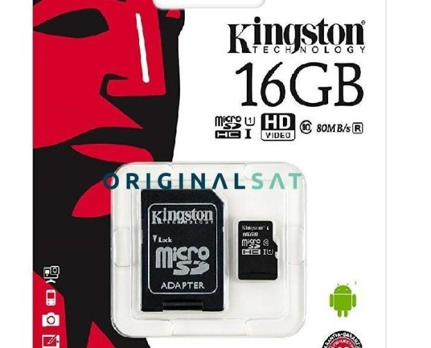 Memoria Micro SD de 16GB. Incluye adaptador SD
