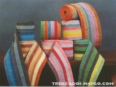 Trenzado textil. Trenzado de materiales sintéticos y naturales