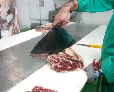 Cortes de piezas de res. Variedad de opciones en carne de ternera