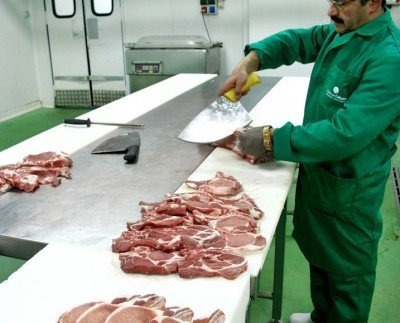 Cortes de piezas de cerdo. Cortes profesionales