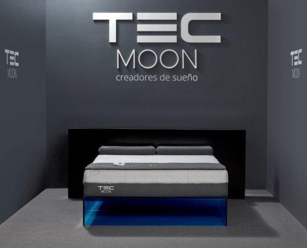 Colchones.Colchón TEC MOON Pro S colocado en la showroom de Fuenlabrada