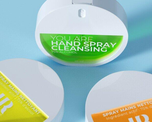Hand Spray Cleansing. Spray efecto niebla de rápida absorción y enriquecido con Aloe Vera