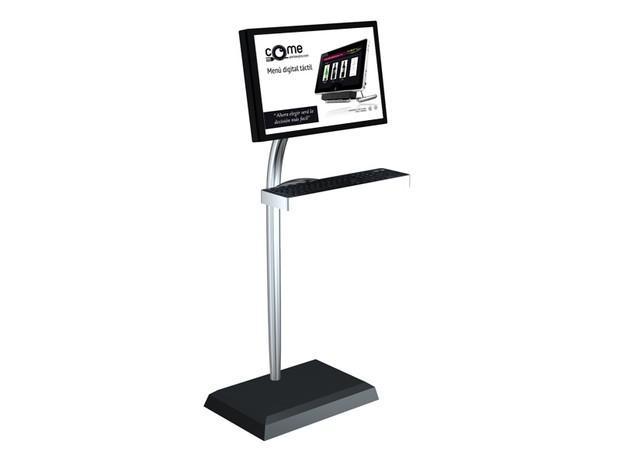 Tactil para entrada. Punto de información para mostrar la carta virtual en entrada a establecimiento tanto en interior como en exterior. Diversos tamaños.