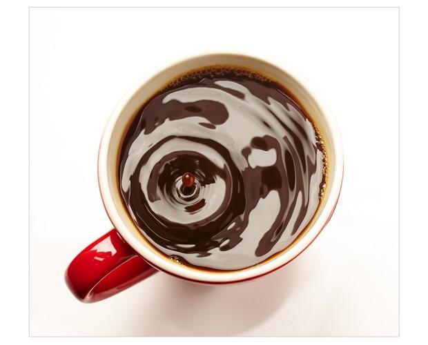 Gota de café. Fotografía de alimentación