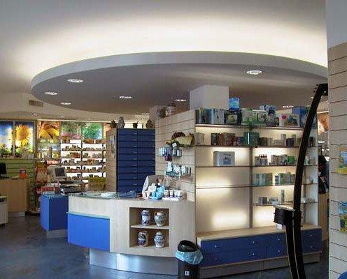 Mobiliario para farmacia. Diseños modernos