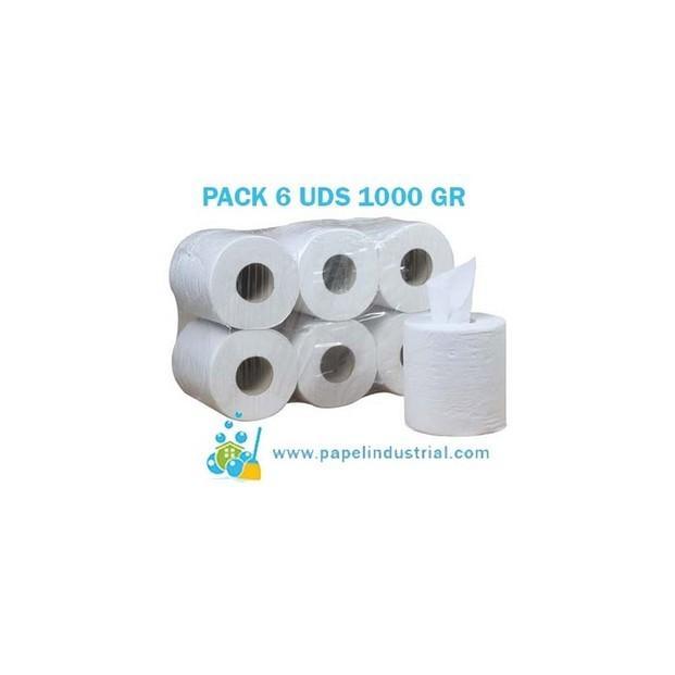 Servilletas Desechables. Bobinas de papel celulosa 100%. pack de 6 uds.