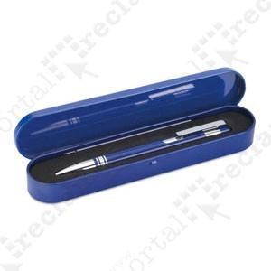 Bolígrafo con estuche. Bolígrafo de aluminio con estuche