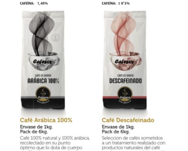 Café arábica 100%. Natural y descafeinado