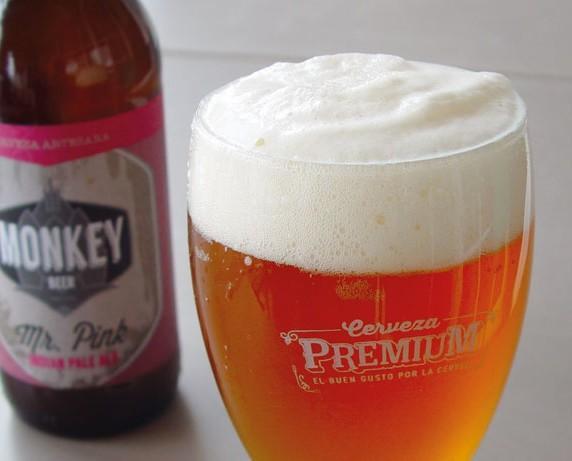 Monkey Mr Pink. Cerveza artesanal Monkey Mr. Pink