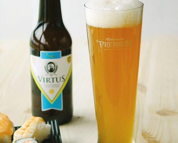 Virtus trigo. Cerveza de trigo blanco, cítrica y fresca