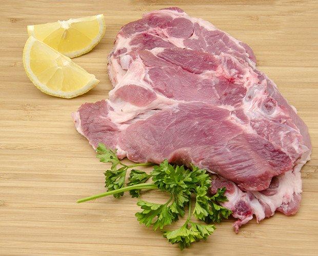 Filete de cerdo. De jamón, aguja, etc