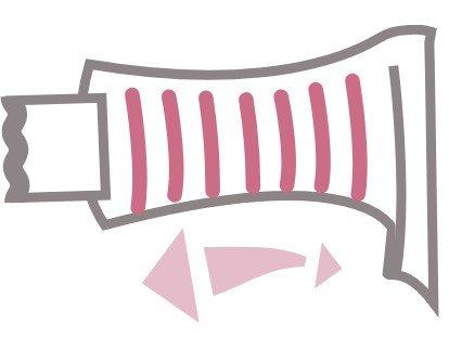 Cierre de velcro ultra suave y elástico. Gracias al cierre ultra suave evitamos rozaduras