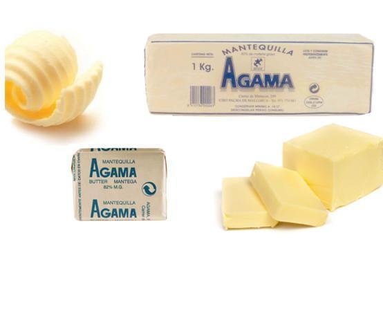 Mantequilla.Rica mantequilla en variados formatos.