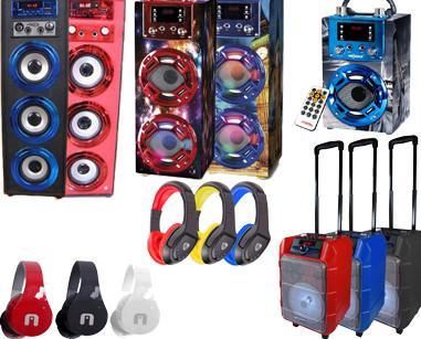 Altavoces y auriculares. Productos de alta calidad