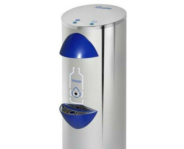 Equipos Industriales para Tratamiento del Agua. Fuentes de Agua. Fuente ANTI-COVID para oficinas. Chasis exterior en acero inox. Sistema de sensor.