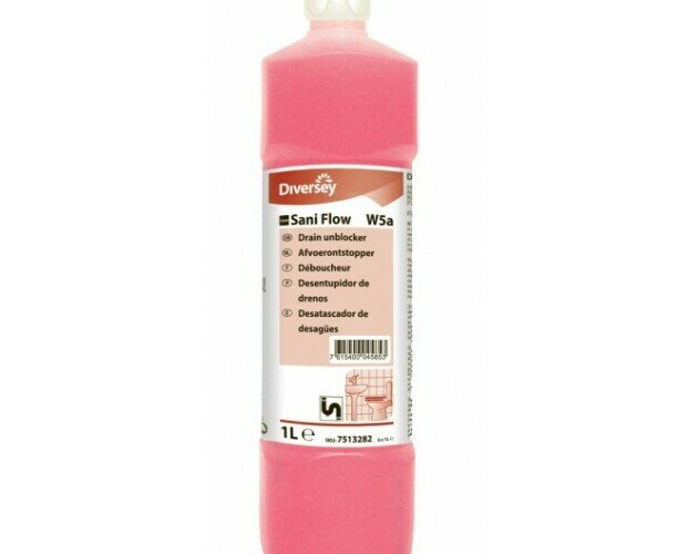 Desatascador Alcalino. Es efectivo para eliminar restos de jabón y comida