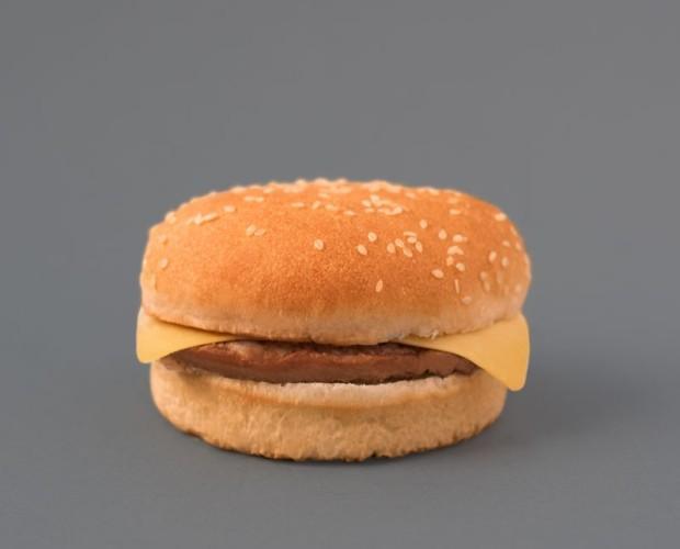 Hamburguesas Precocinadas.Pollo picado y queso