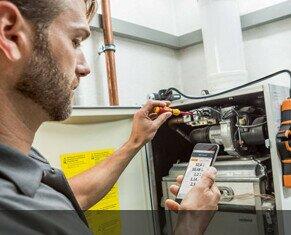Mantenimiento de Instalaciones de Climatización.Realizamos análisis de combustión en calderas y calentadores.
