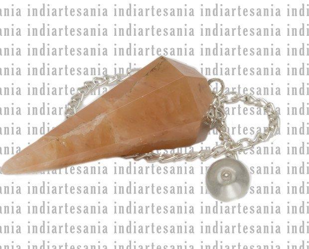 Artesanía.Péndulo cónico piedras semipreciosas. Material: Piedra.
