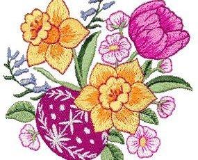 Bordados de flores. Hermosos bordados