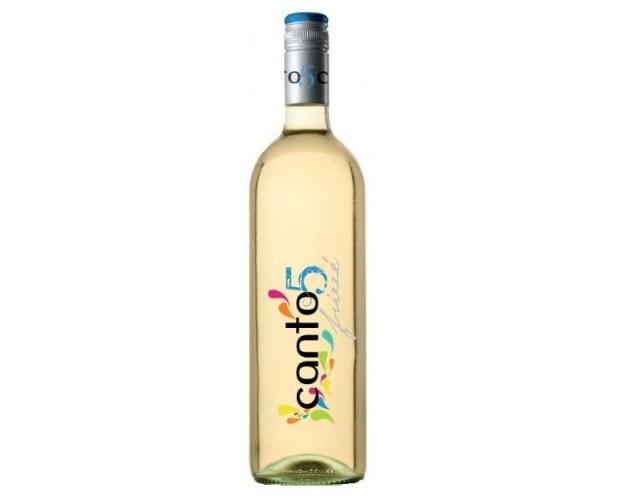 Canto 5. Vino blanco frizzante, de baja graduación. Dulce y refrescante