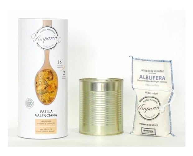 Paellas preparadas. Paellas Valenciana, Conejo, A Banda, Marisco
