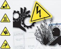 Señalización industrial. Variedad de temas