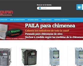 Tienda online. Material eléctrico, de fontanería y climatización