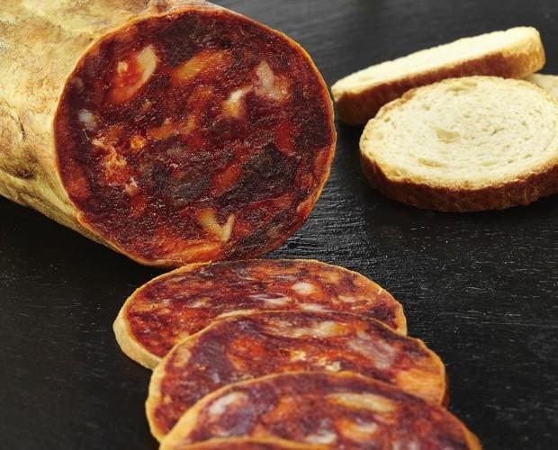 Chorizo Ibérico.Chorizo cular de bellota