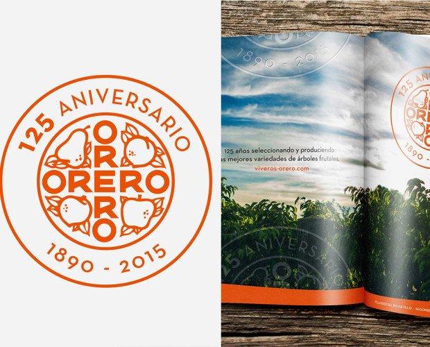 Viveros Orero. Branding para Viveros Orero: diseño de marca aniversario, diseño web, campañas, etc.