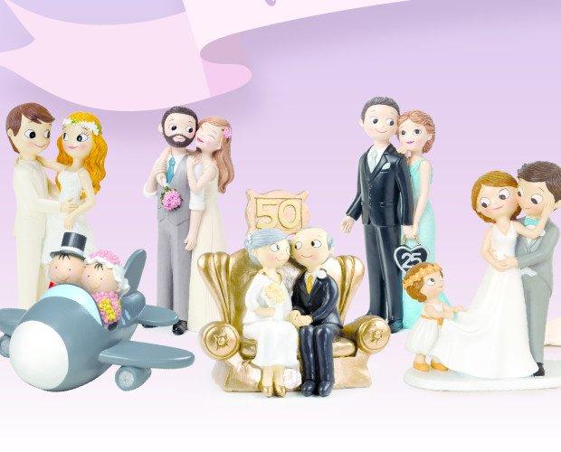 Cake topper bodas. Figuras de pastel, diseño propio y original.