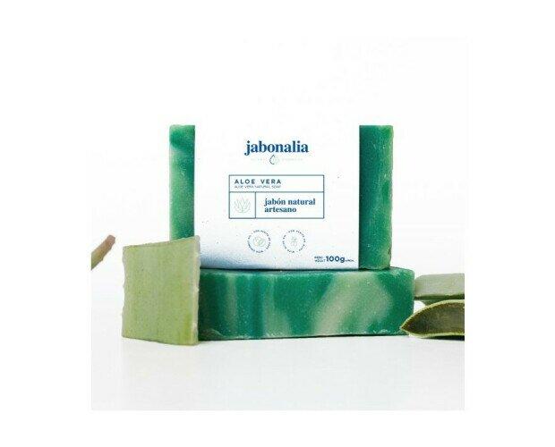 Jabón de Aloe Vera. Ayuda a reestructurar la piel dañada , ideal para pieles con alergias o descamacion