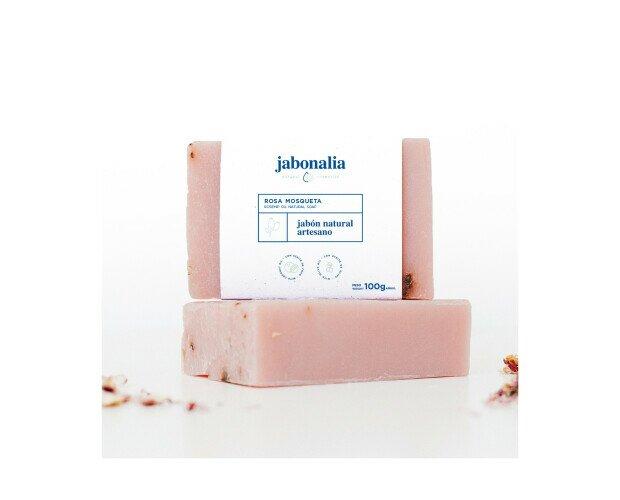 Jabón de Rosa Mosqueta. Estimula las células que fabrican colágeno y elastina, responsables de la elasticida