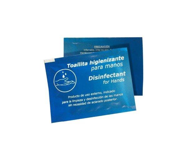 Toallitas Desinfectantes.La bolsa contiene 100 unidades