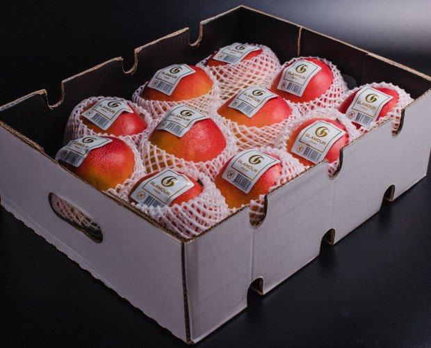 Caja de mango. Mango peruano en caja de 6 kilos netos.