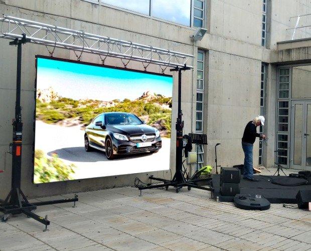 Alquiler de Equipo Audiovisual.Alquiler de pantallas de leds