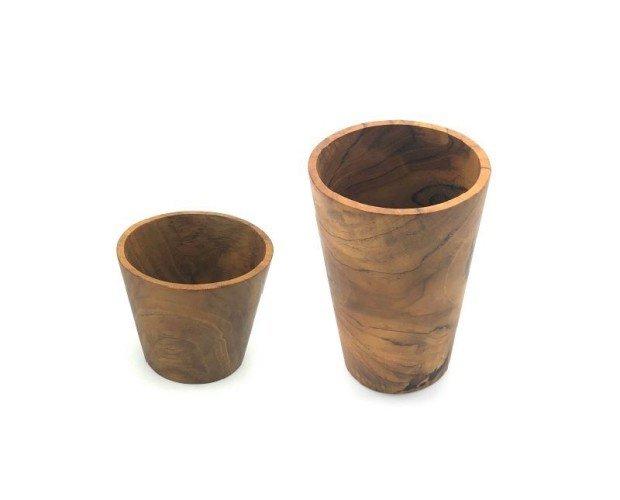 Vaso De Madera. Fabricado en Teca