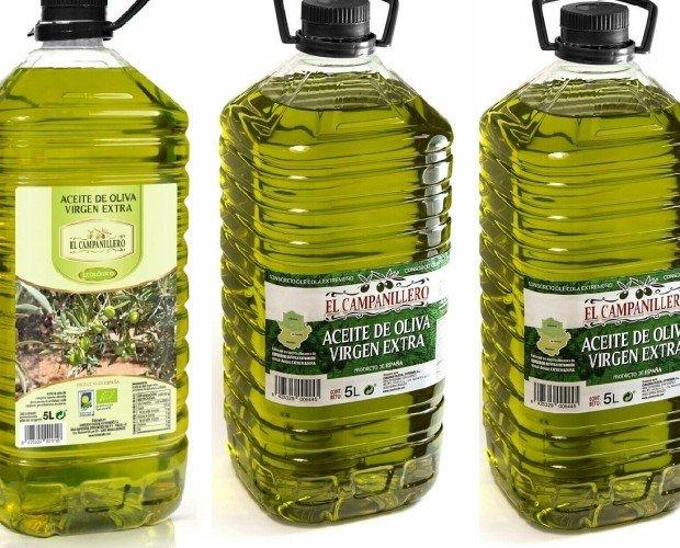 Aceite de Oliva.Caja de tres garrafas de 5 litros