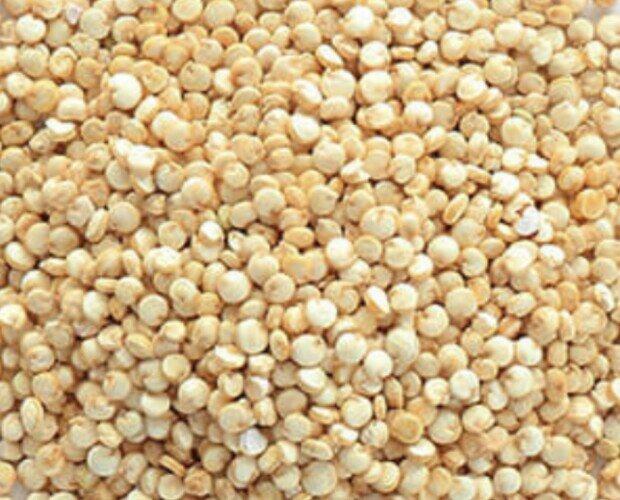 Quinoa blanca. Es un cereal andino, de excepcional valor nutritivo rico en proteínas vegetales,