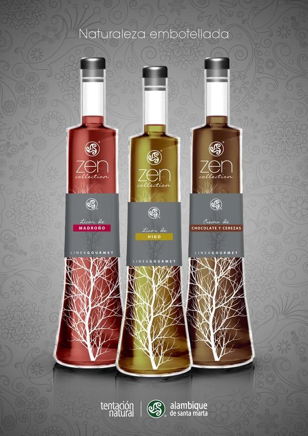 Colección Zen. Licor de higo, madroño y chocolate y cerezas