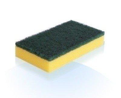 Estropajo verde con esponja. Precios muy competitivos