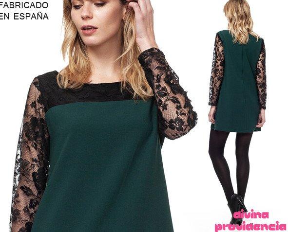Vestido-Joss verde. Fabricado en España