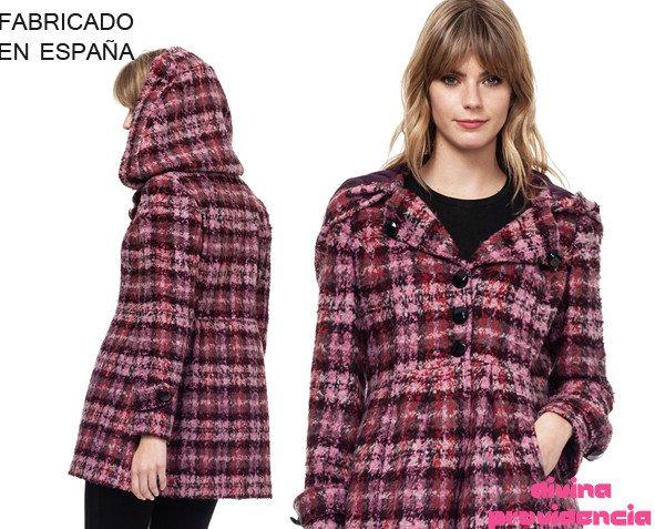 Abrigo denis rosa. Seguimos la tendencia de la moda