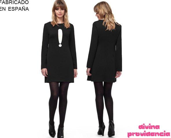 Vestido Noa negro. Vestido manga larga