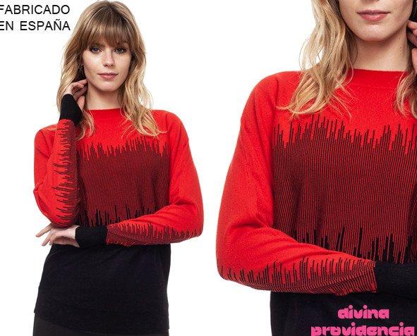 Jersey rain rojo. Prendas de alta moda