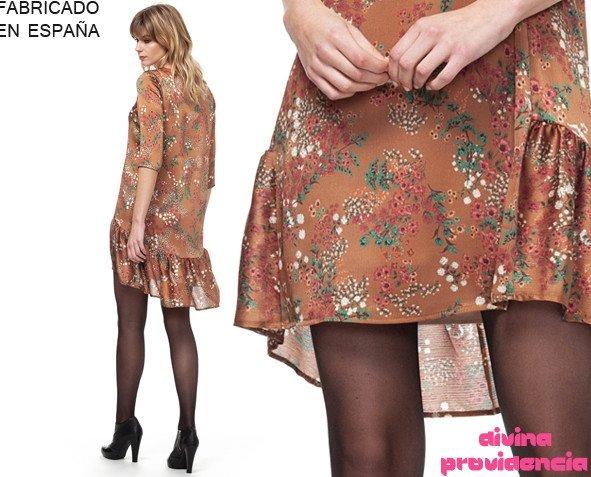 Vestido adhara marrón. Vestido muy ligero