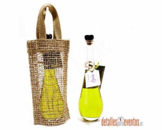 Botella lagrima. Aceite de oliva