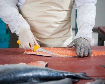 Salmón Fresco.Trabajando el salmón.