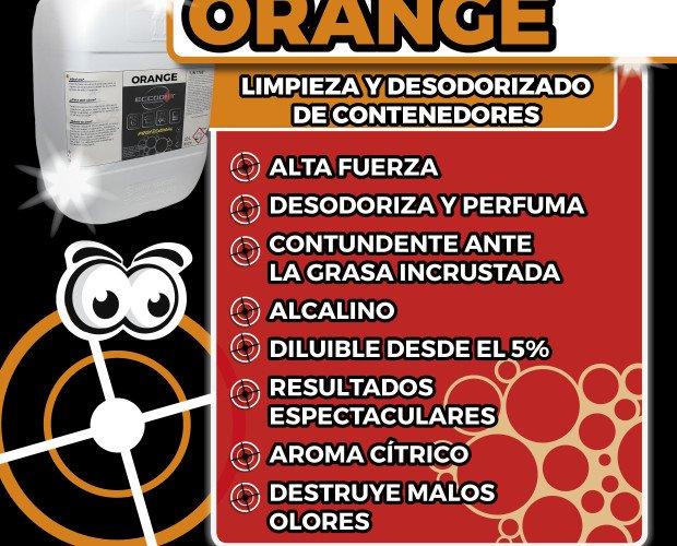 Orange. Limpieza y desodorizado de contenedores