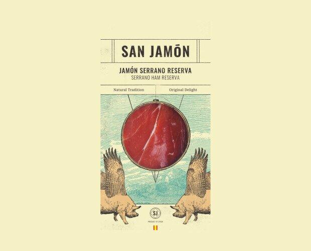 Lonchas de Jamón Serrano Reserva. Es un jamón madurado no menos de 12 meses con un bajo porcentaje de grasa.